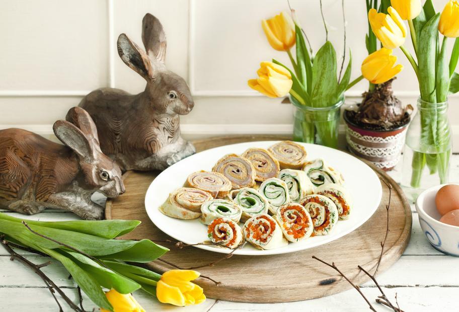 Für den Osterbrunch: Dreierlei gefüllte Pfannkuchen