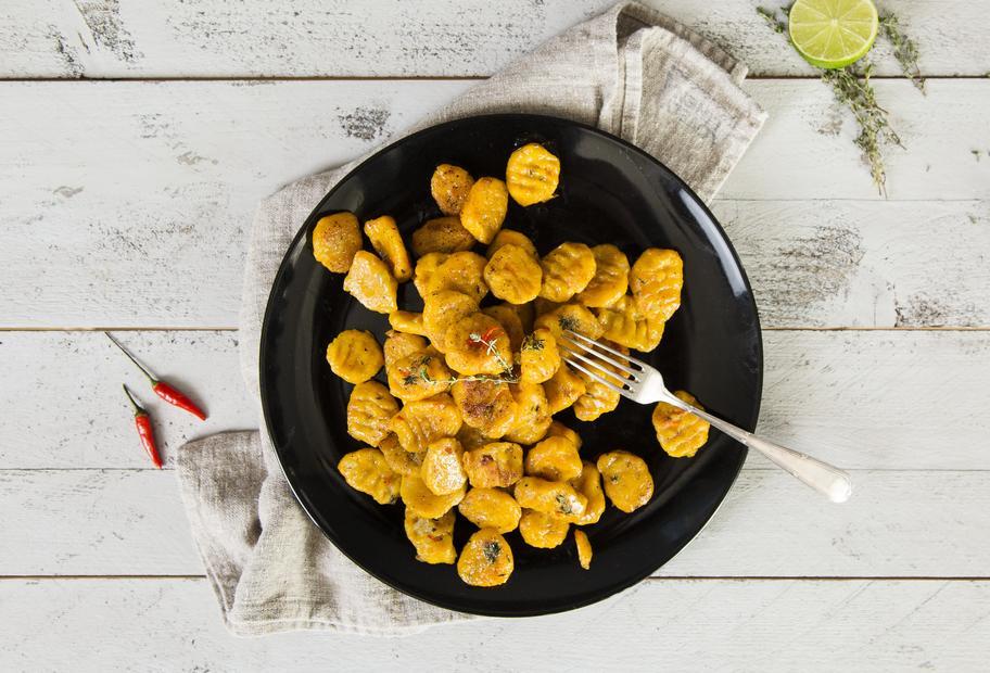 Kürbis-Gnocchi in Chili-Honig-Butter