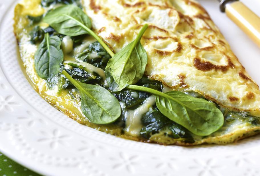 Omelett mit Spinat und Gouda