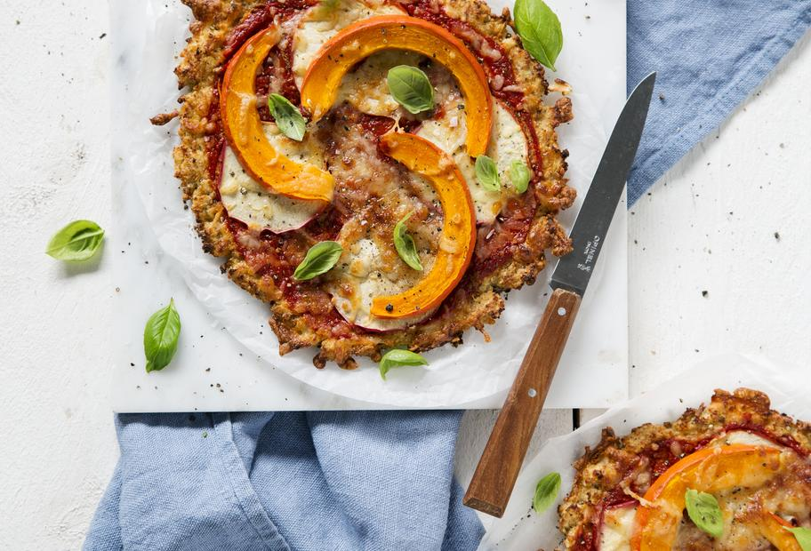 Low-Carb-Pizza mit Kürbis
