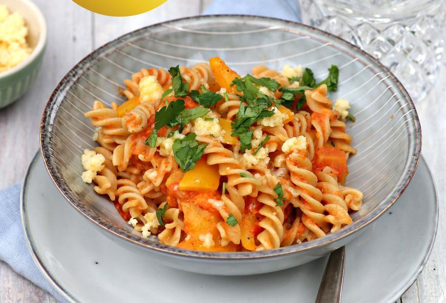 Tomaten-Paprika-Pasta