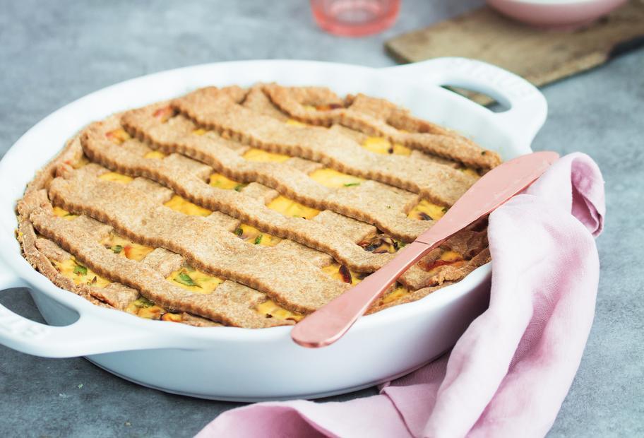 Familienessen: Crostata mit Kräuter-Ricotta-Füllung