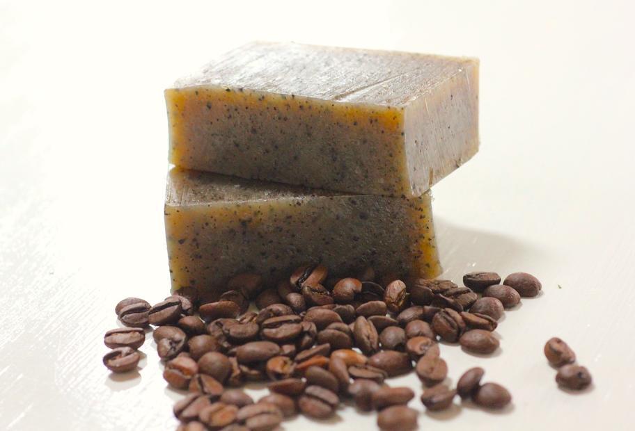 Kaffee-Seife mit Peeling-Effekt