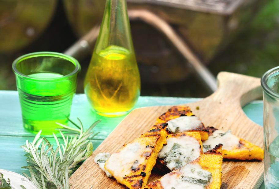 Polenta-Ecken mit Gorgonzola