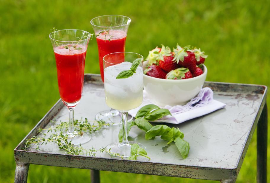 Erdbeer-Thymian-Prosecco