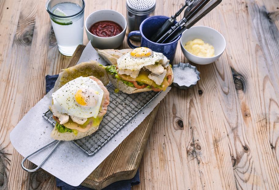 Hähnchen-Avocado-Sandwiches