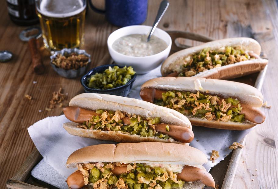 Auf die Hand: Hotdogs
