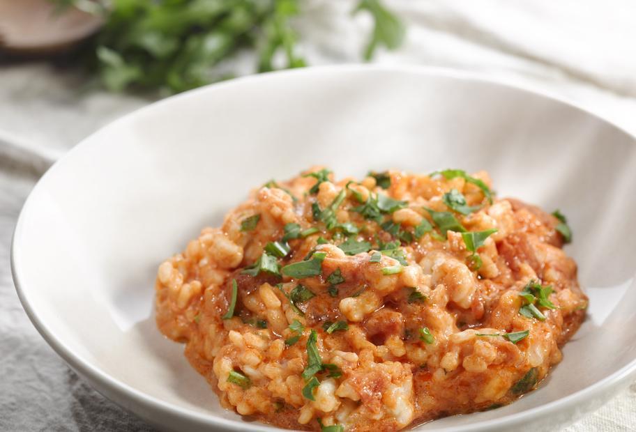 Einfach gut: Risotto mit Tomaten und Rucola