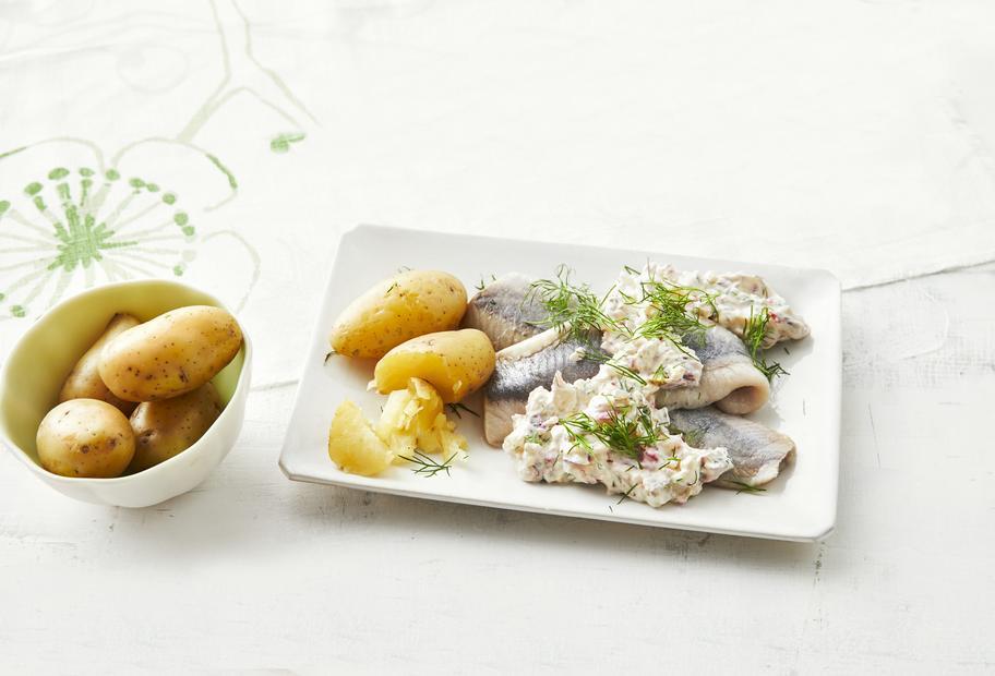 Jetzt ist Matjeszeit: Matjes mit Radieschensalat