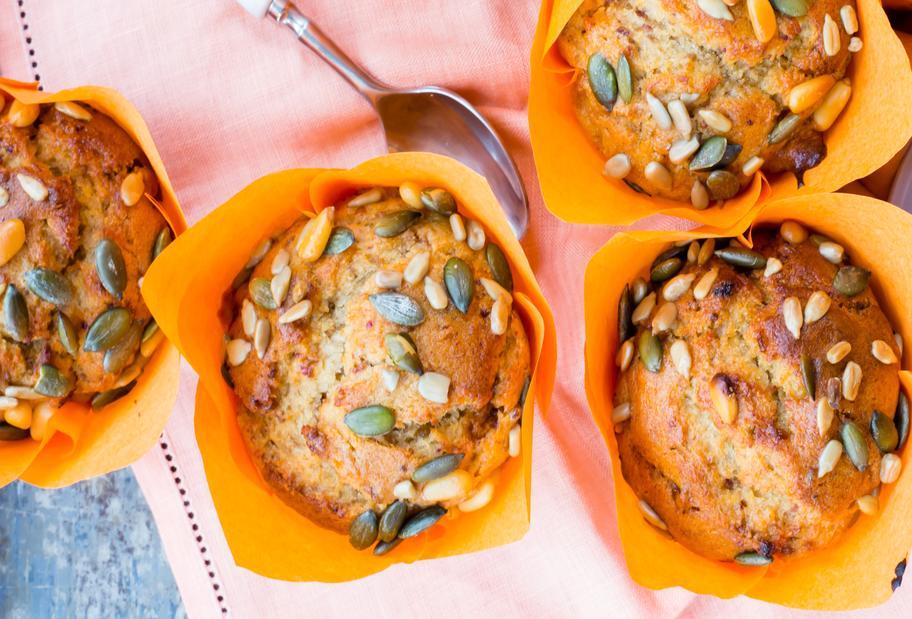 Erdnussbutter-Bananen-Muffins