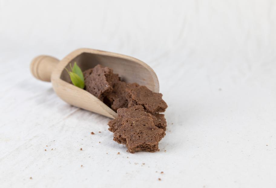 Schokoladen-Nuss-Sterne