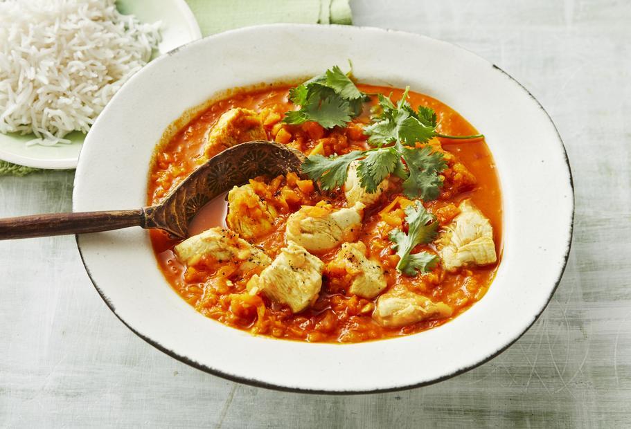 Wärmt und belebt: Indisches Hähnchen-Curry