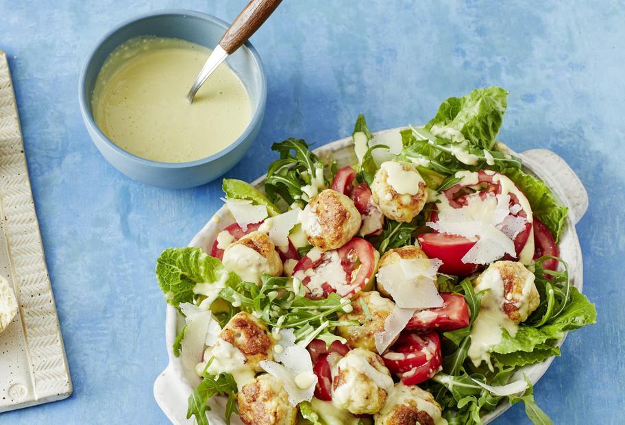 Köstlicher Klassiker: Caesar-Salad mit Hühnchen