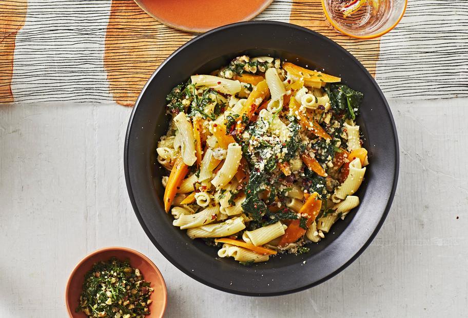Karotten-Spinat-Pasta