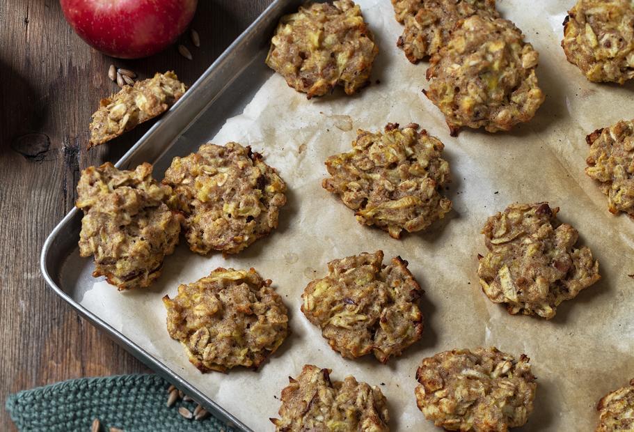 Apfel-Hafer-Kekse