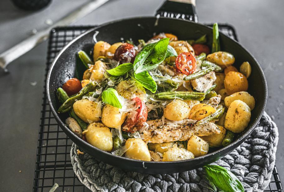Gnocchi-Hähnchen-Pfanne