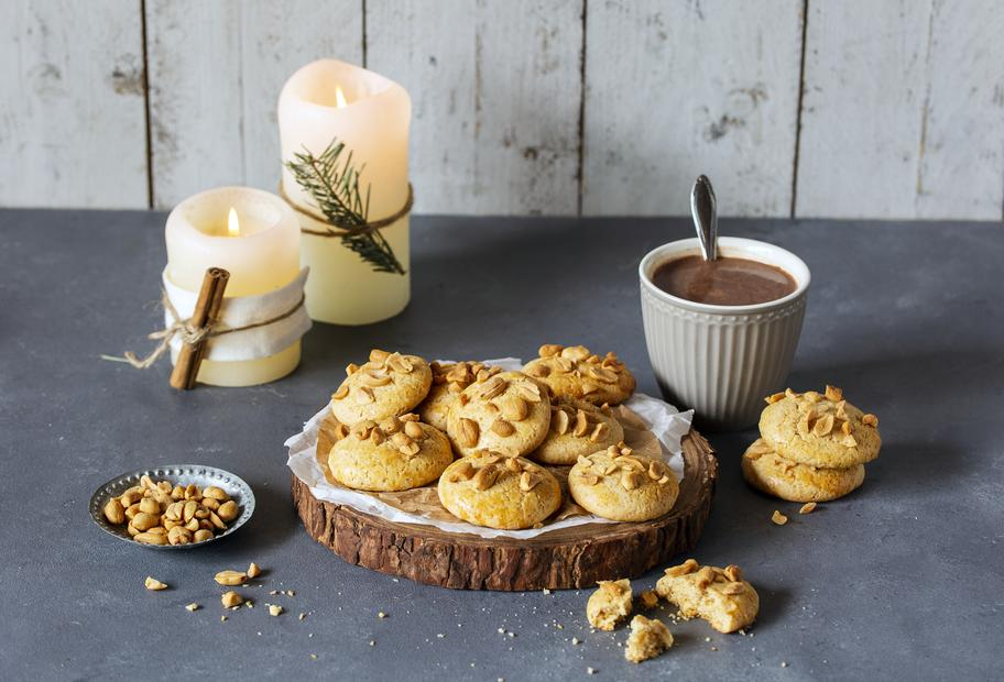 Knusprige Erdnusscookies