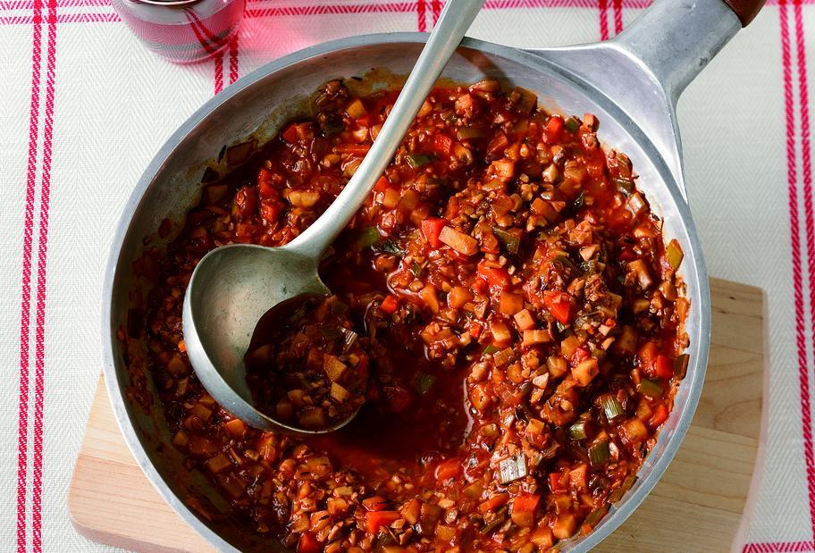 Pilz-Bolognese ohne Fleisch