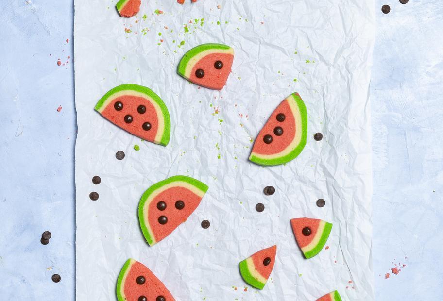 Sommerliche Wassermelonenkekse