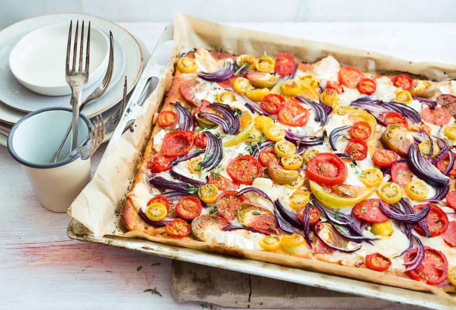 Knuspriger Tomatenkuchen
