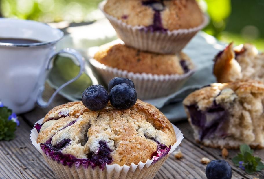 Fruchtige Blueberry-Buttermilk-Muffins