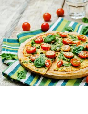 Low Carb Tomaten-Spinat-Pizza
