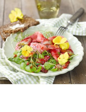 Lachs mit Erdbeermus