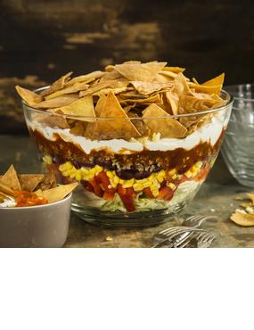 Taco-Salat mit selbstgemixten Chips