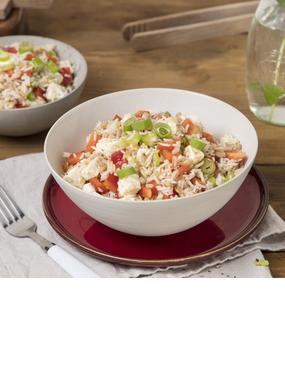 Griechischer Dinkel-Reis-Salat