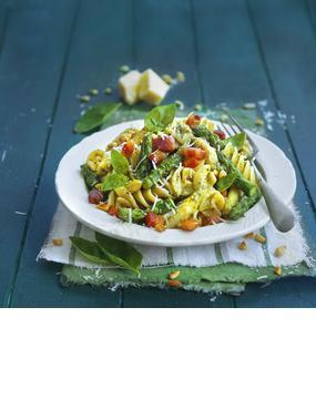 Fusilloni mit Spargel und Zitronen-Pesto