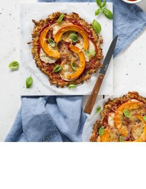 Low-Carb-Pizza mit Kürbis