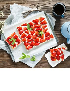 Erdbeer-Schmand-Schnitten vom Blech