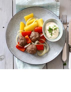 All in one und so lecker: Gemüse mit Hackbällchen aus dem Varoma