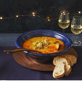 Hackfleisch-Porree-Suppe