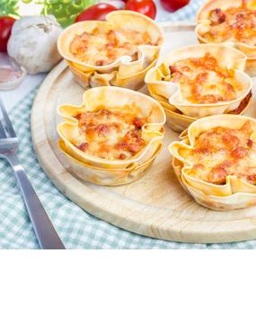 Mini-Lasagne aus der Muffinform