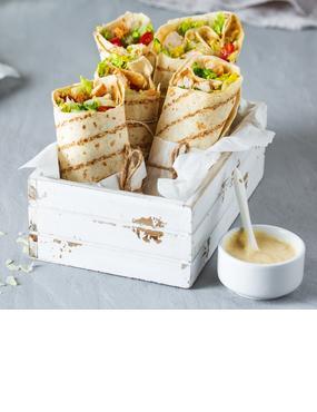 Caesar Salad Wraps mit Hähnchenbrust