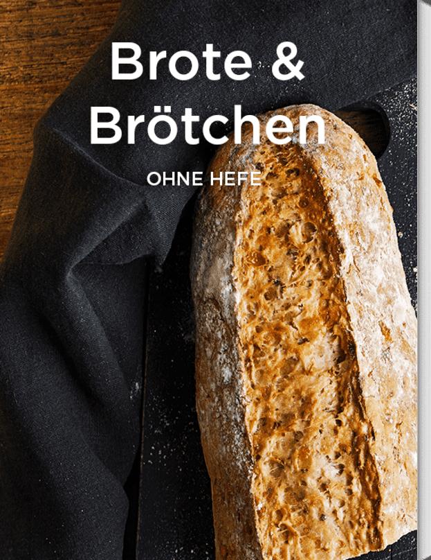 Brote & Brötchen ohne Hefe